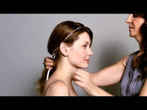 The Low Sweep with Headstrap Hairstyl by Colette Malouf thecmway - YouTube