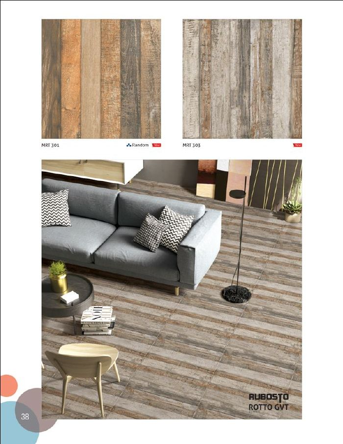 MRT 301 & MRT 303 - Millennium Tiles 600x600mm (24x24) Digital Rubosto Rotto GVT Porcelain Wood Design Tiles  - Vitrified tiles gives most exotic look of the flooring than other ceramic tiles. Vitrified tiles are made of mixture of silica and clay. Vitrified flooring gives most glossy look. Vitrified flooring reflects mirror like look so it is called as polished tiles. Vitrified tiles are having hard surface which is specially made and charged process. Vitrified tiles are having new…