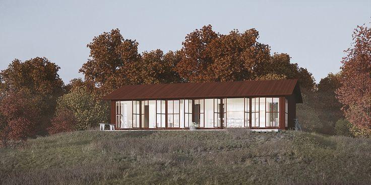 Sommar 90 med loft i klassiskt utförande är det självklara sommarhuset i lantlig miljö.