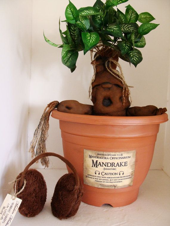 Harry Potter Hogwarts Wizarding World Mandrake by LilTurnipDesigns, $49.99