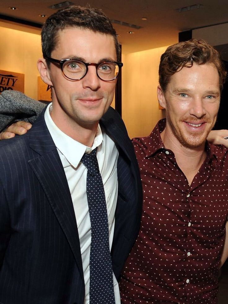 Matthew Goode and Benedict Cumberbatch. -- Matthew Goode is quite literally the most gorgeous man alive!