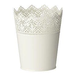 SKURAR Plant pot, off-white indoor/outdoor, off-white - IKEA