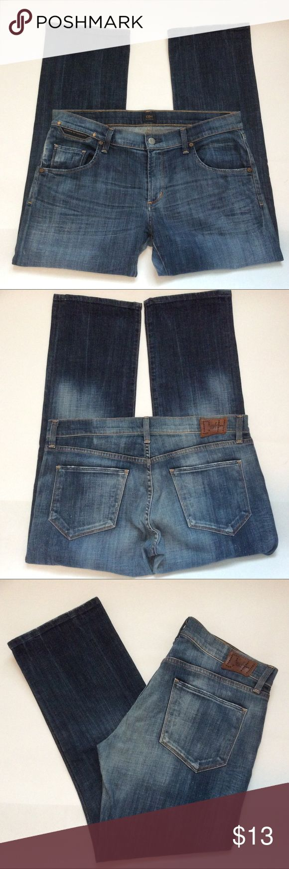 """Just In💕 COH Lived In Jeans Pre-loved. Soft and broken in. Priced accordingly. See photos for wear. Still life left in these cuties. Measured laying flat, across and down. 16.5""""W, 8.5""""Rise, 27""""L Citizens Of Humanity Jeans"""