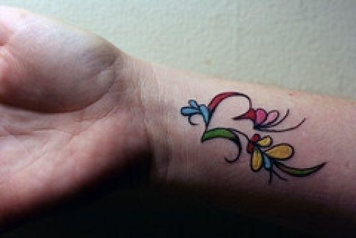 open heart wrist tattoo