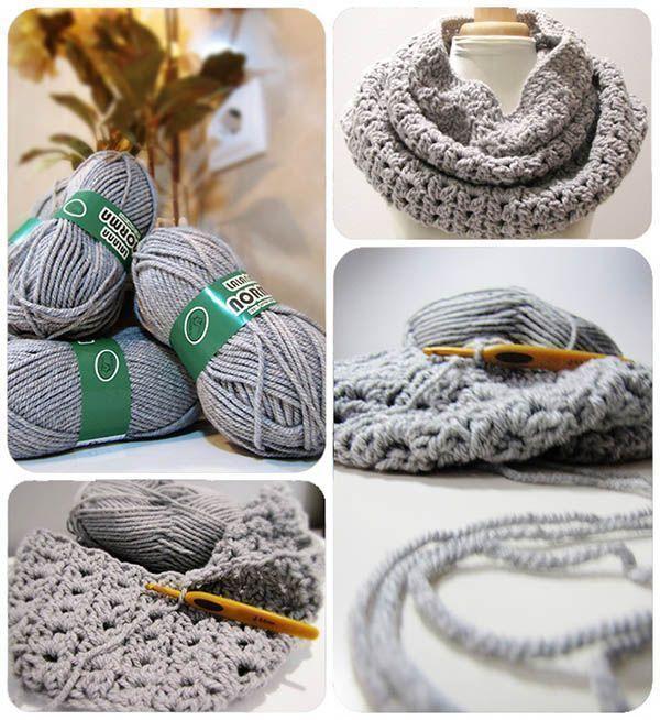 Cuello de lana gris ¡Para los días más fríos!