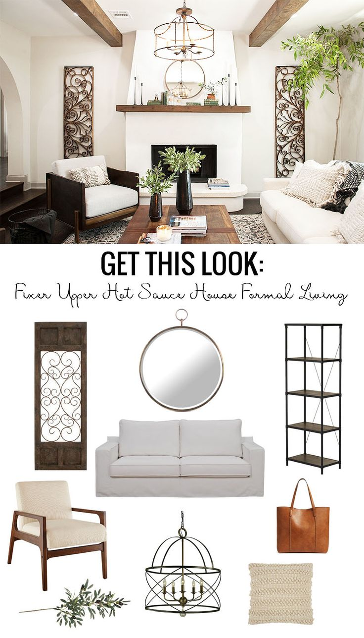 Sarah richardson farmhouse living room - Get This Look Farmhouse Formal Living Room From Fixer Upper Hot Sauce House