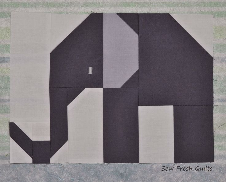 Sew Fresh Quilts: Elephant Parade - Week 1 - Large Elephant
