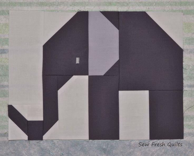 Sew Fresh Quilts: Elephant Parade - Week 1 - Large Elephant