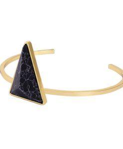 Bracelet géométrique triangle marbre