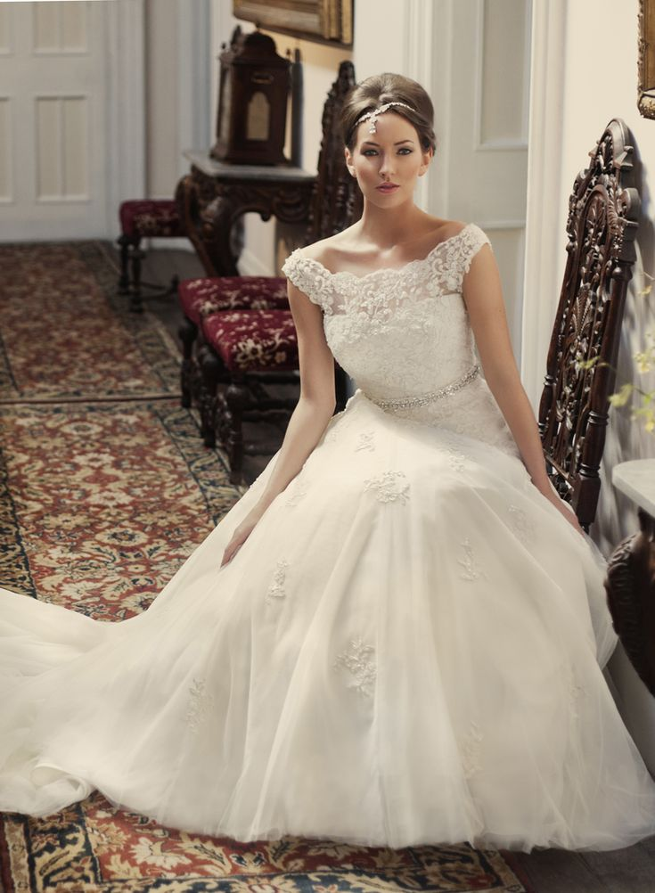 Stunning Princess style wedding dress by Benjamin Roberts available at Wedding Belles of Otley