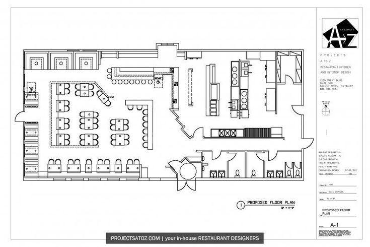 E.S Modern Japanese Fast Food Restaurant Floor Plan