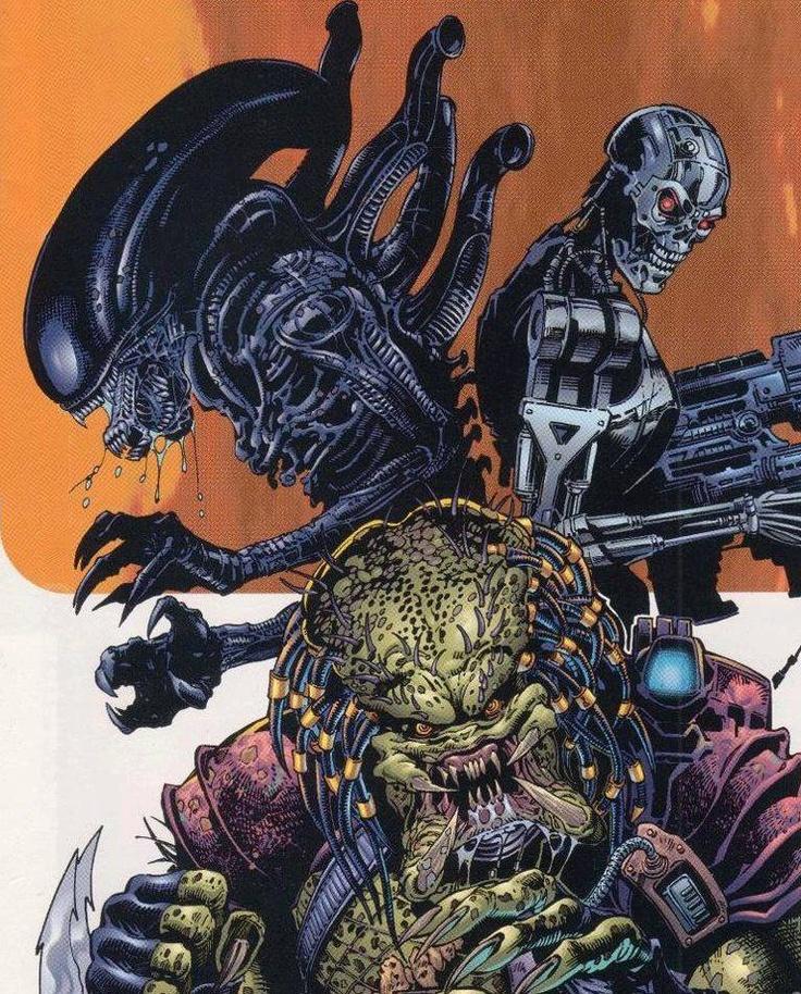 Alien vs Predator vs Terminator by Dwayne Turner