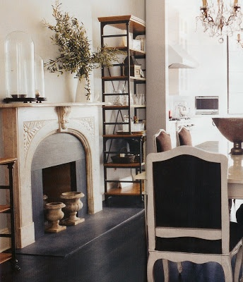 Adorable faux fireplace