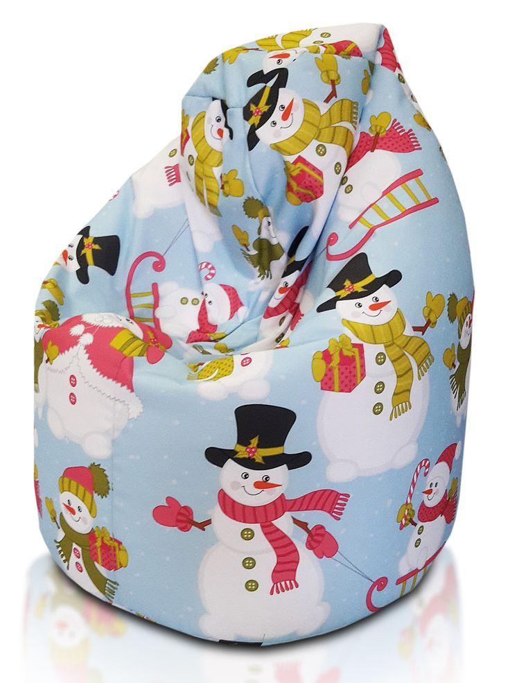 Der #Sitzsack Mit #Schneemann Als #Motiv Eignet Sich Hervorragend Als  #Geschenk Für