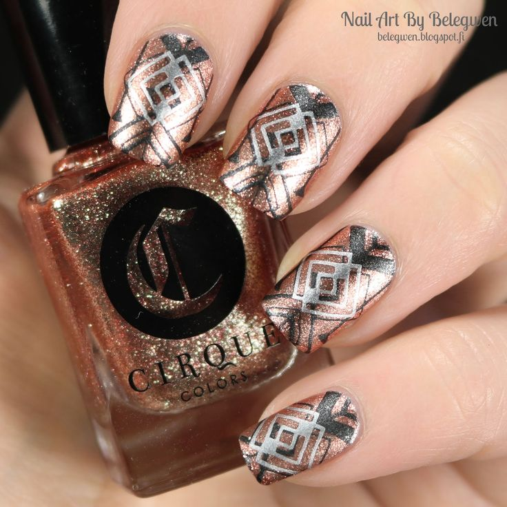 Nail Art By Belegwen: Cirque Halcyon with double stamps from BP-L054