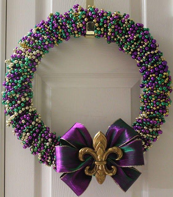 Mardi Gras wreath