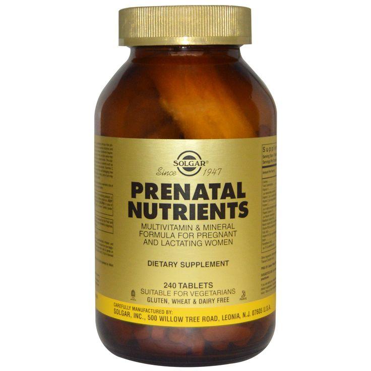 Solgar, Prenatal Nutrients, мультивитамины и мультиминералы, 240 таблеток