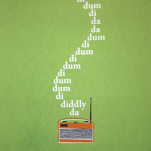 listening to the archers. Art Screen Print The Archers BBC Radio 4 Theme Tune Roberts Limited Edition £30.00