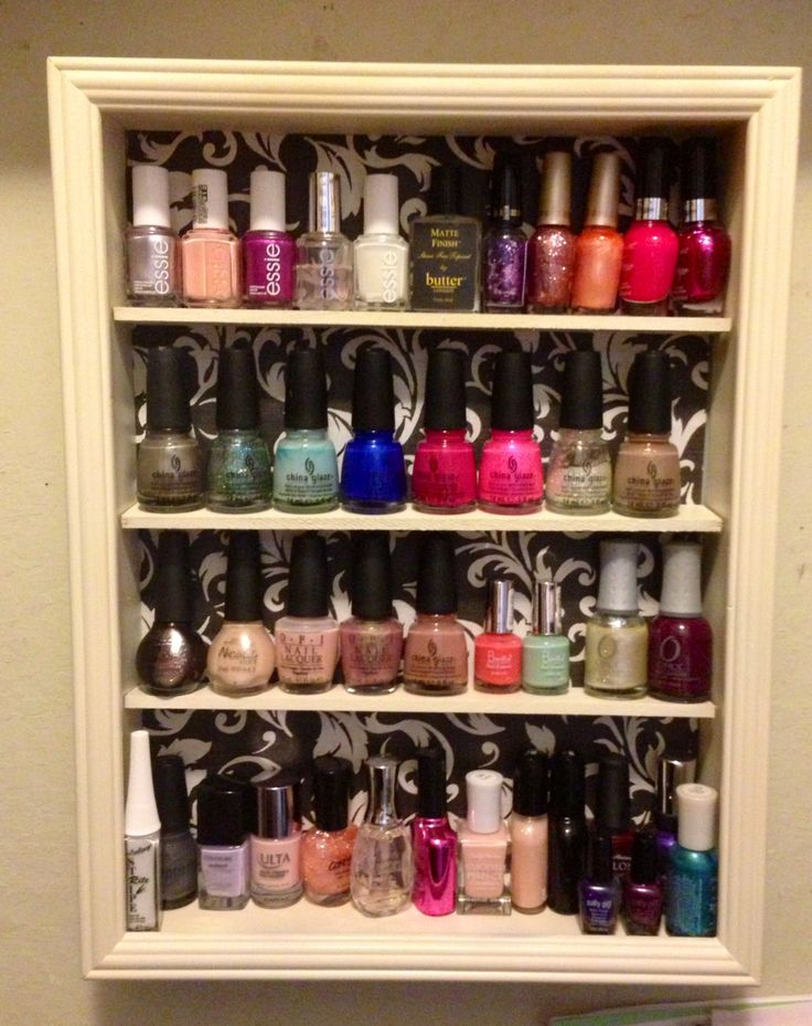 Diy Nail Polish Storage 10 Clearance Shadow Box Frame