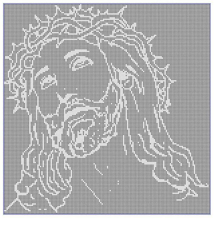 Crocheting: Filet Crochet CHART-Jesus