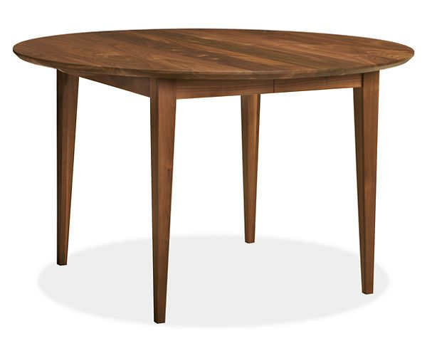 room u0026 board adams 48r extension dining table with two18w leaves