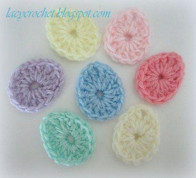 Easter Egg Applique free crochet pattern - Free Easter Crochet Patterns - The Lavender Chair