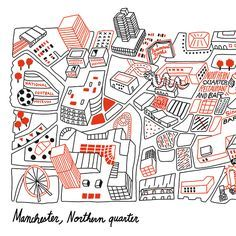Northern quarter map google search nq map map art for Map arredamenti