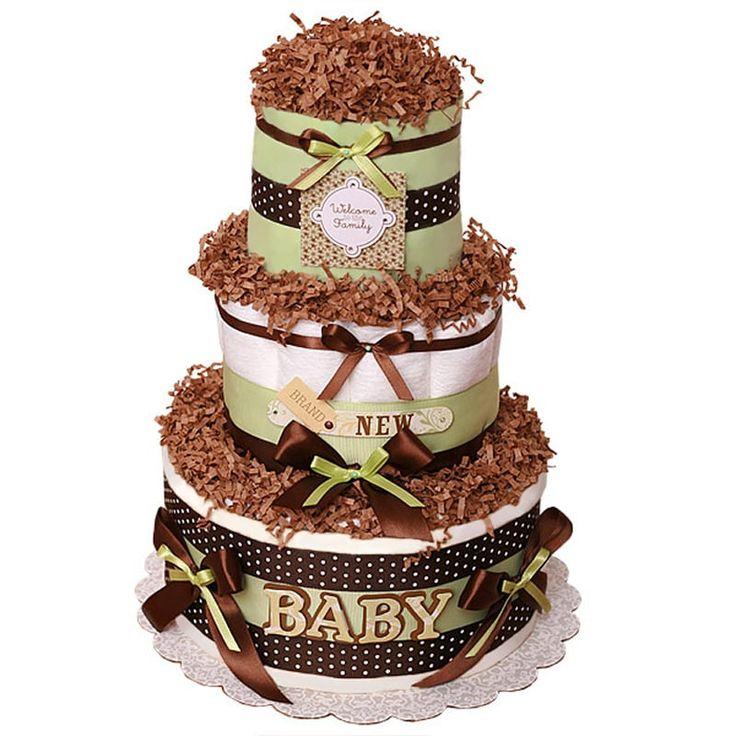 Торт из памперсов в подарок малышу Шоколадное Драже