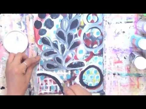 (38) painting on a magazine page by Alma Stoller - YouTube