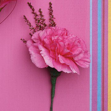 Carnation Boutonnieres - Free Bout Tutorials and Supplies