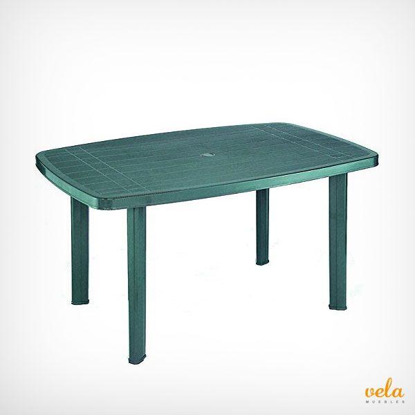 Mesa de jardín de resina color verde para tu terraza o jadín. Echa un vistazo!