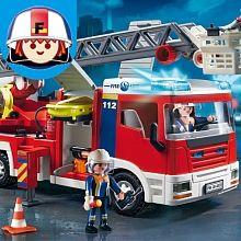Playmobil - Camion de Pompiers - Grande Échelle - 4820