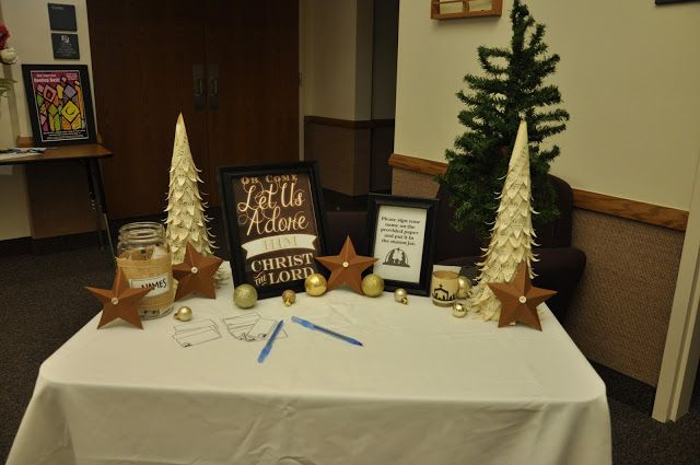 Relief Society Christmas Program 2012 . Love the decorations and the get-to-know-you game.