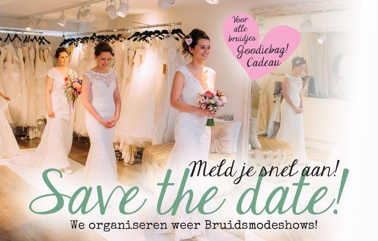 Modeshows bij Verliefd BruidsCouture te Kapelle 2016/2017 - Meld je aan via: www.verliefdbruidscouture.nl  (Photo credits: www.mariekelodderfotografie.nl)