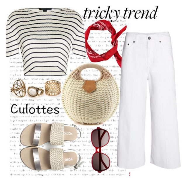 Untitled #1090 by bebushkaj on Polyvore featuring polyvore fashion style Alexander Wang Yves Saint Laurent clothing TrickyTrend culottes
