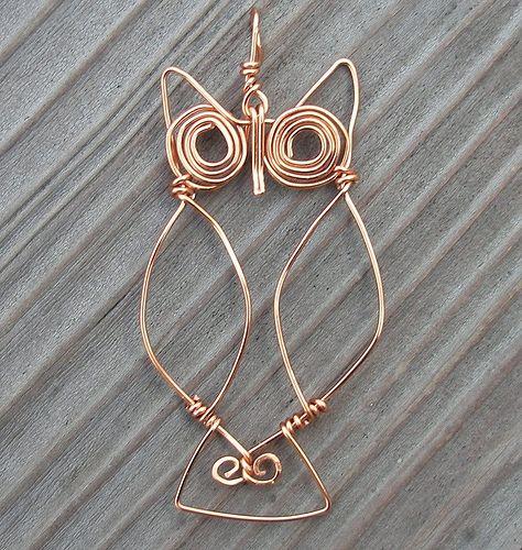 Wire owl pendant