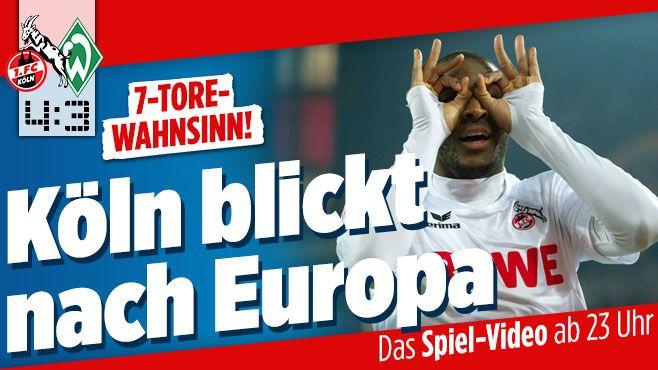 Köln – Werder jetzt im Live-Ticker: 1. Endspiel um Europa http://www.bild.de/bundesliga/1-liga/saison-2016-2017/spielbericht-1-fc-koeln-gegen-sv-werder-bremen-am-32-Spieltag-46942240.bild.html