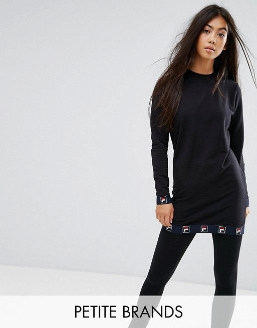 Fila Petite Long Sleeve Top With Logo Tape Detail