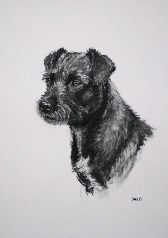 Patterdale Terrier chien fine art à tirage limité par Terrierzs
