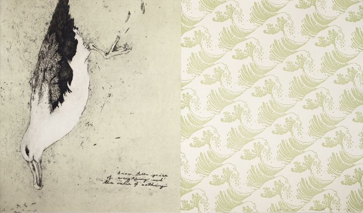 Ben Reid, <i>know the price of everthing and the value of nothing</i>, intaglio and relief print on 435 x 725 mm paper, from an edition of 10, 2012. NZ$1750 incl GST framed; NZ$1400  incl GST unframed.