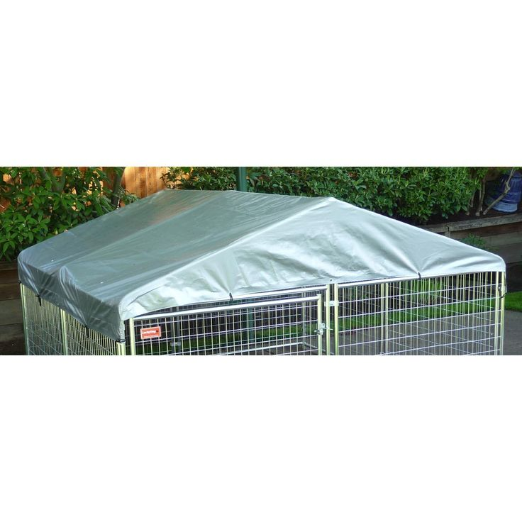 Lucky Dog Weatherguard Kennel Cover with Frame, 10' L X 10' W
