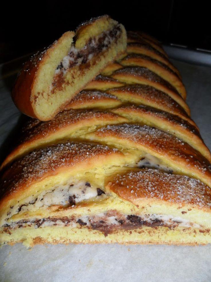 le ricette in cucina di patatina: treccia di anna moroni (variante ricotta e cioccolato)