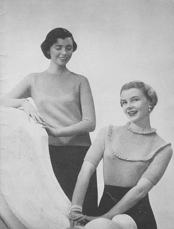 1940s Classic Lacey Pullover