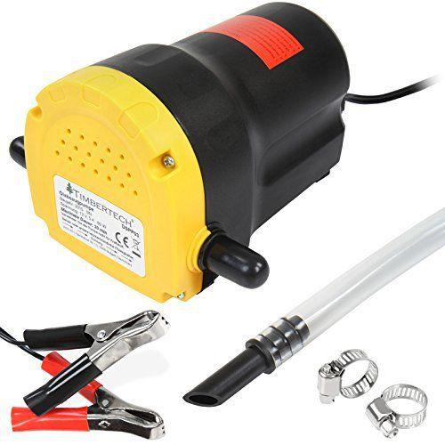 Timbertech – Pompe à vidange d'huile moteur 12 V – pompe d'aspiration d'huiles moteur et gazole – pour voitures, motos, camionnettes etc.:…