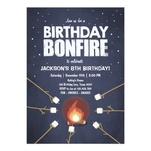 251 best camp out invitations images on pinterest birthday birthday bonfire campout cookout party invitation stopboris Image collections