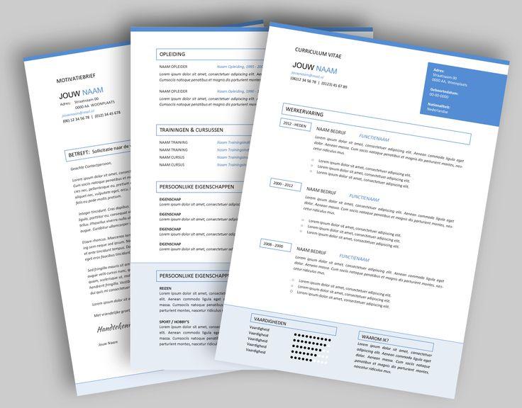 CV template 294. Laat de lay-out van je CV pimpen en eventueel de tekst optimaliseren. www.mooicv.nl