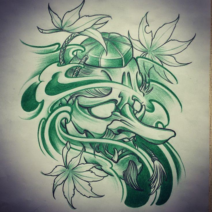 Tattoos Horimouja Japanese Tattoo Design 3500x3921: 25+ Best Ideas About Tengu Tattoo On Pinterest