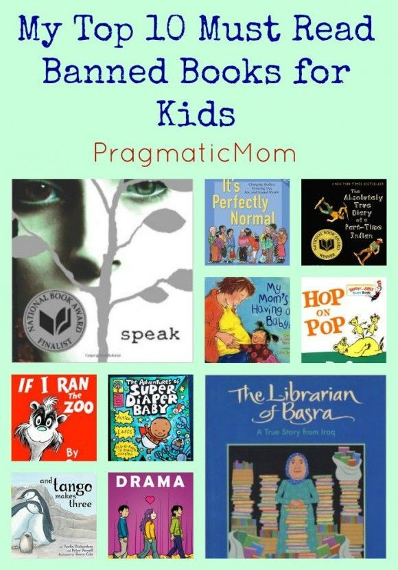 My Top 10 Must Read Banned Books to Celebrate Banned/Challenged Book Week :: PragmaticMom