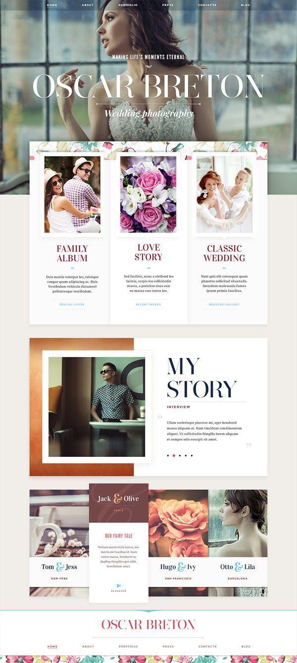 Not the usual wedding photographer webdesign
