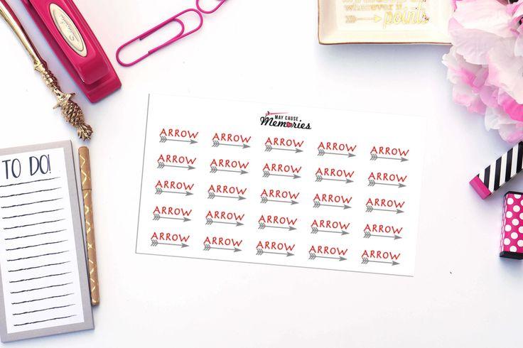 ARROW TV SHOW Paper Planner Stickers!